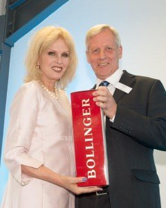 Met Engineers Director Ian Lang with Joanna Lumley